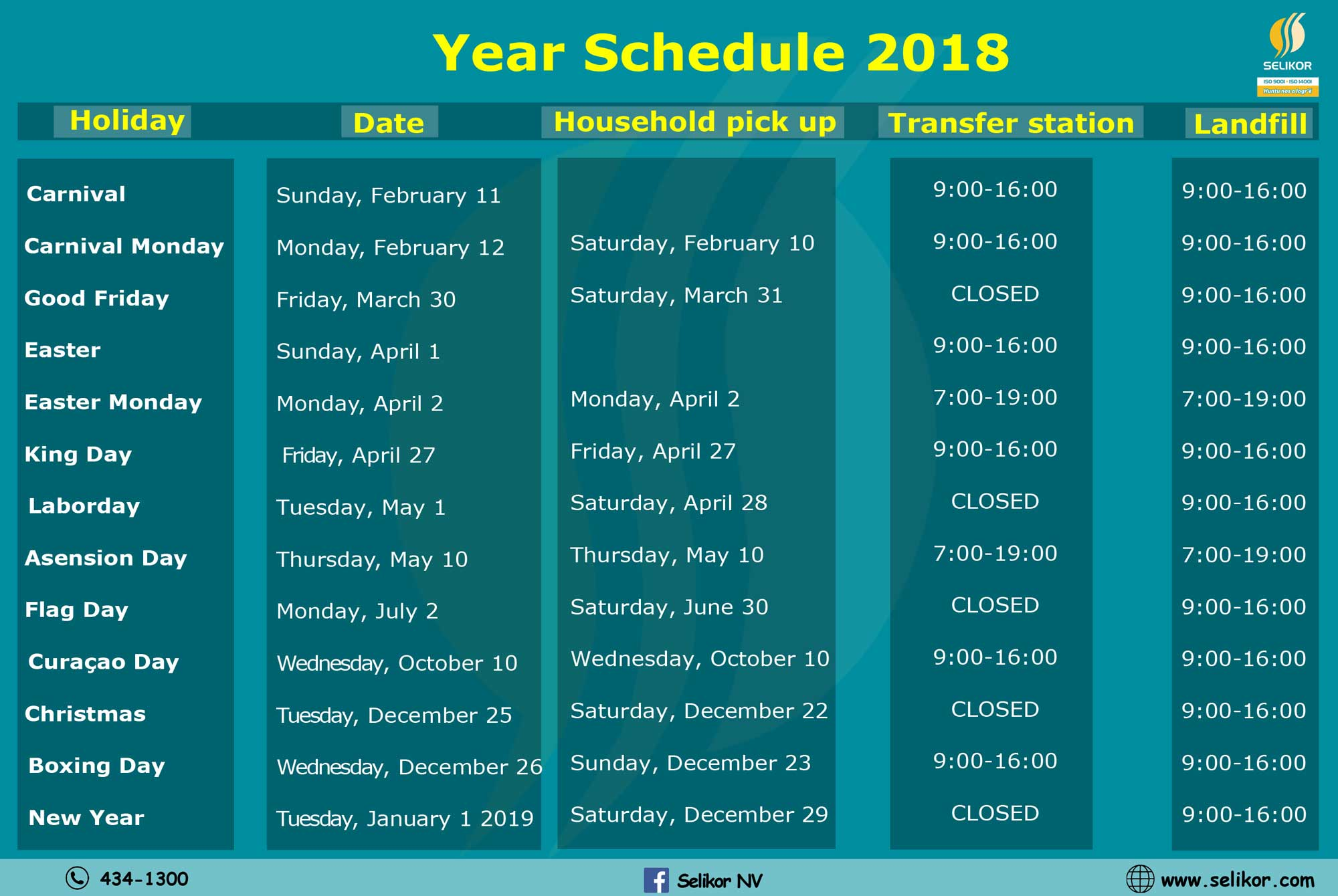 lijst kalender lang
